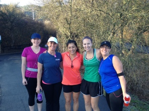 girls running group